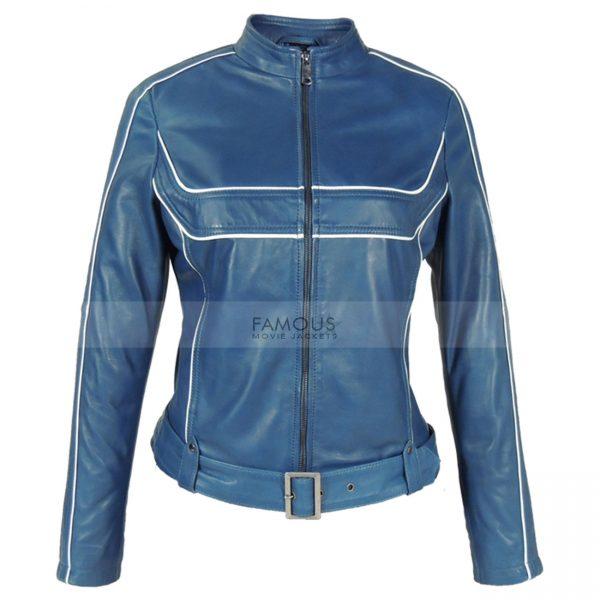 Jennifer Morrison Once Upon A Time Blue Leather Jacket