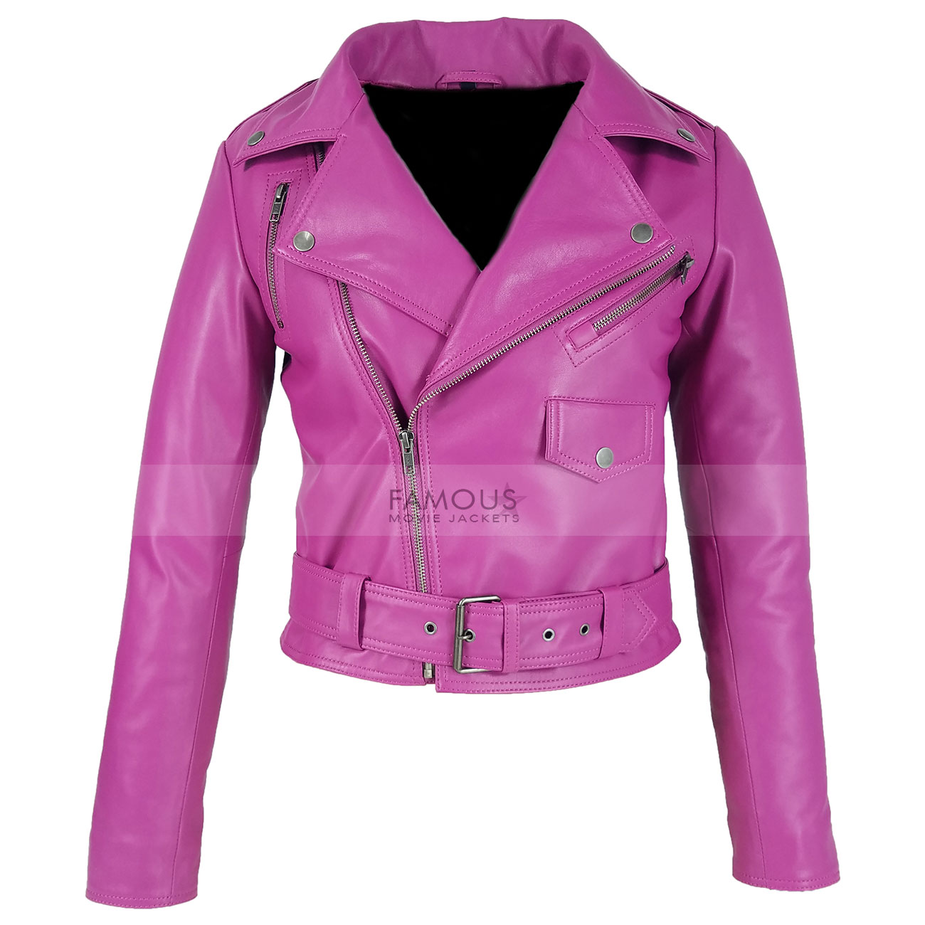 Jessica-Alba-Hot-Pink-Leather-Jacket1