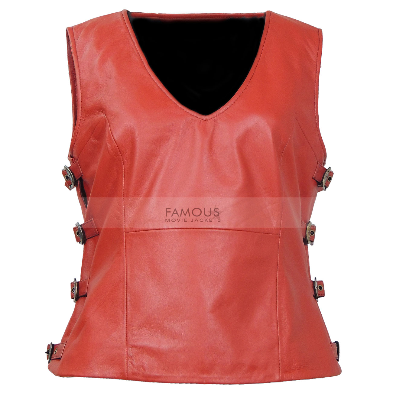 Firefly TV Series Zoe Washburne (Gina) Brown Leather Vest