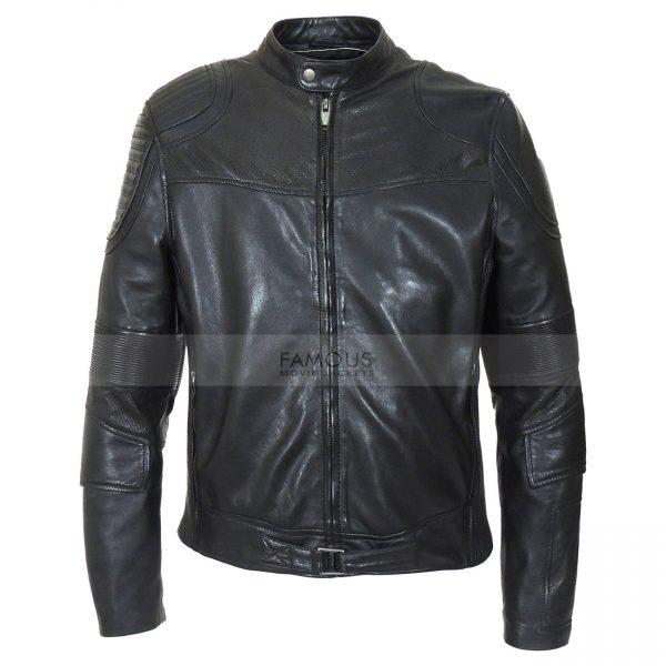 Judge Dredd Karl Urban Black Leather Jacket