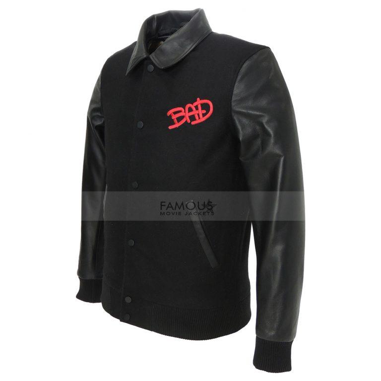 Michael Jackson World Tour Black Bomber Jacket