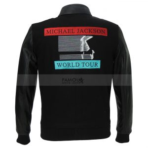 Michael Jackson World Tour Black Bomber Jacket