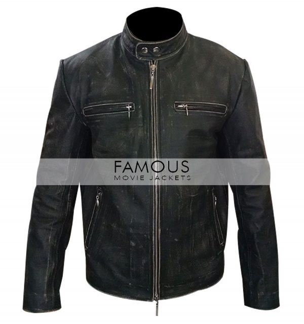 Daddys Home Mark Wahlberg Distressed Leather Jacket