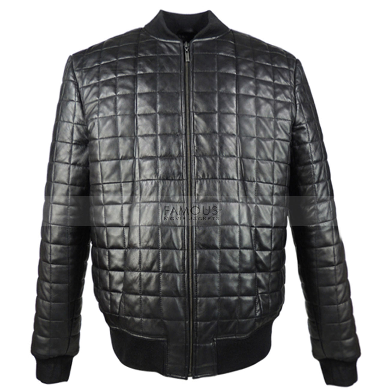 Aubrey-Drake-Black-Quilted-Bomber-Leather-Jacket3