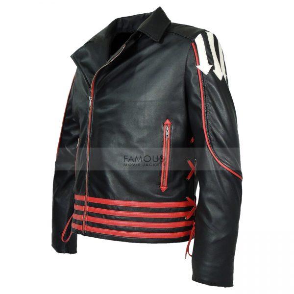 Freddie Mercury Red and Black Leather Jacket