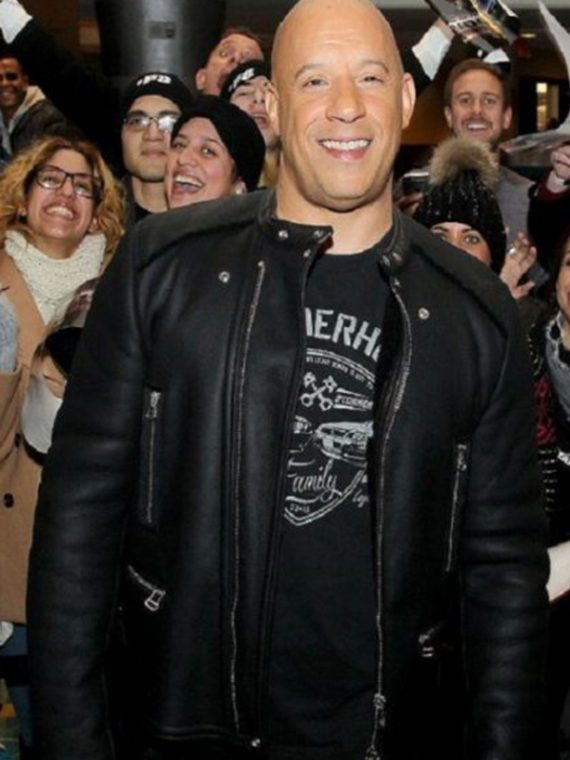 2017 Furious 8 Vin Diesel Leather Jacket