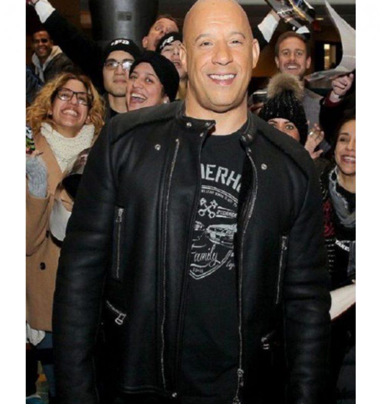 2017 Furious 8 Vin Diesel Leather Jacket