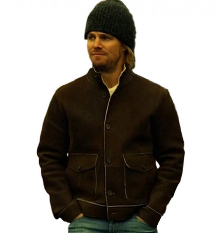 Arrow Oliver Queen Suede Leather Jacket