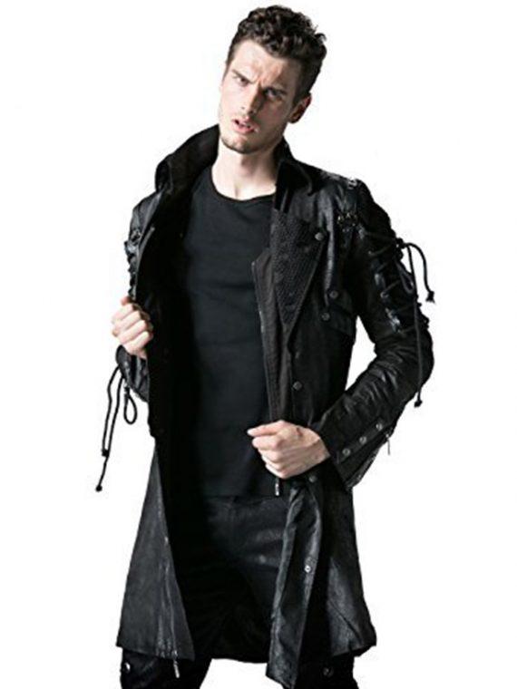 Punk Rave Poison Cosplay Leather Coat