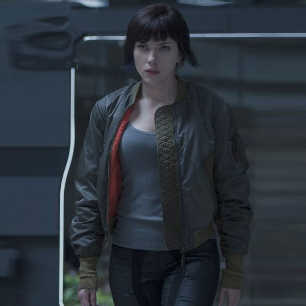 Scarlett Ghost In The Shell Jacket Famous Movie Jackets