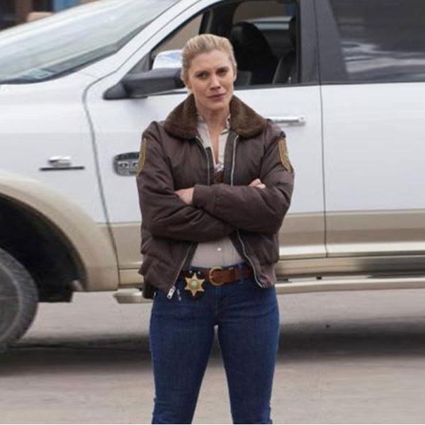 Sheriff Victoria Moretti Longmire Fur Collar Bomber Jacket ...