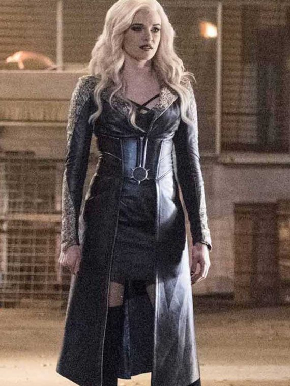 The Flash Season 3 Killer Frost Black Leather Coat