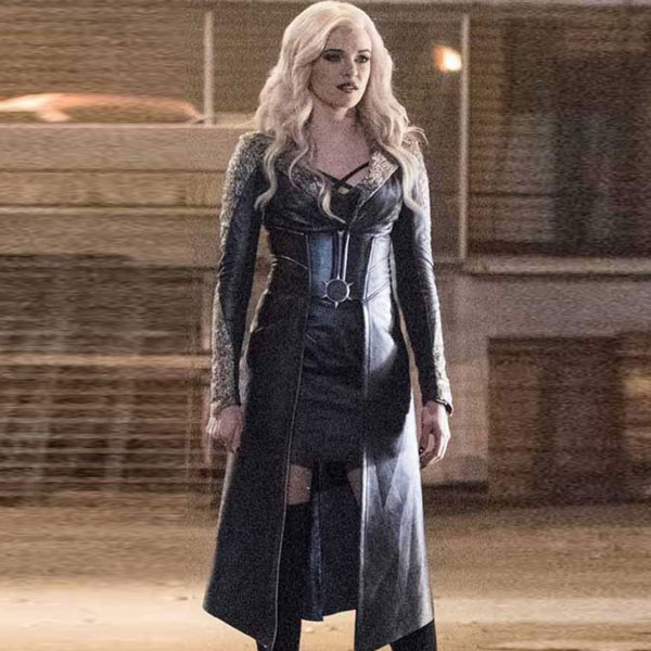the flash season 3 killer frost black leather coat  fmj