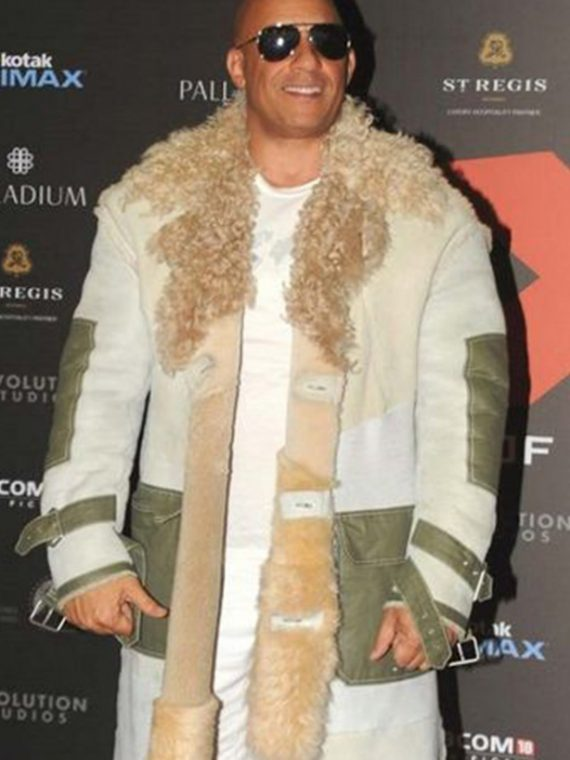 xXx Movie Premiere Vin Diesel Fur Coat
