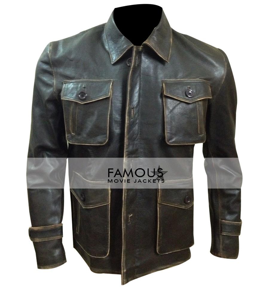 25f7d465 Supernatural Jensen Ackles (Dean Winchester) Brown Distressed Jacket ...