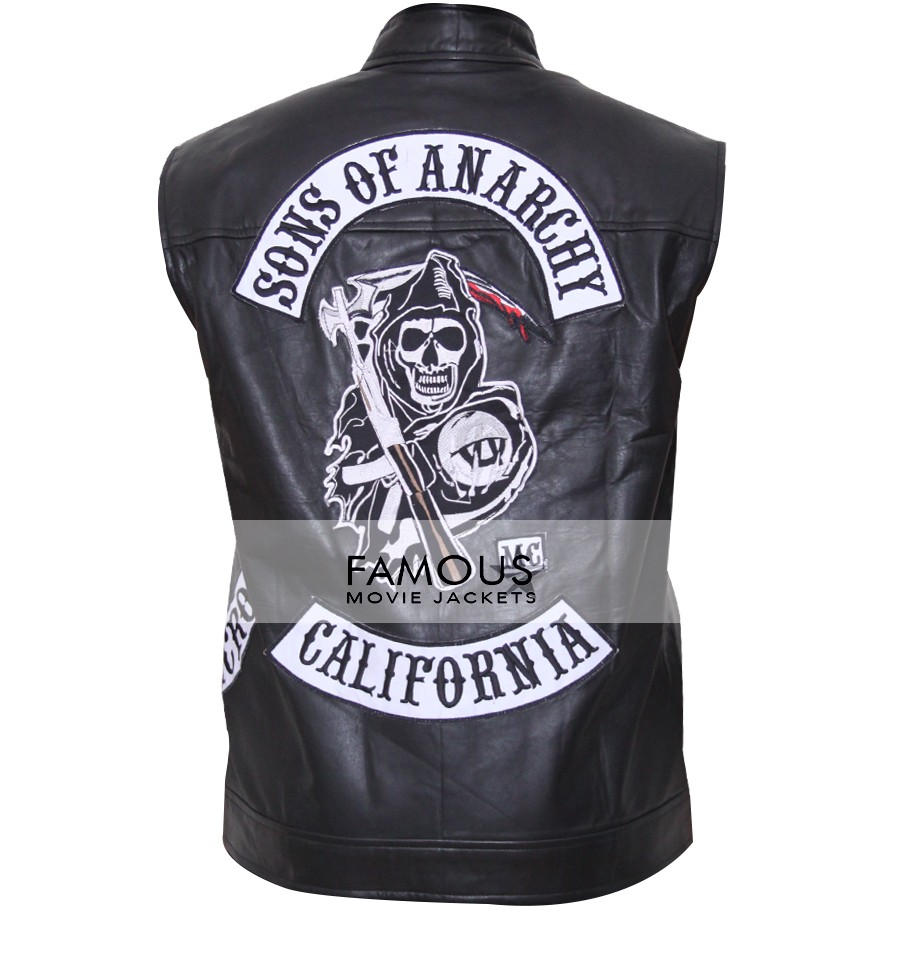 Jackson Jax Teller Sons Of Anarchy Leather Patches Vest