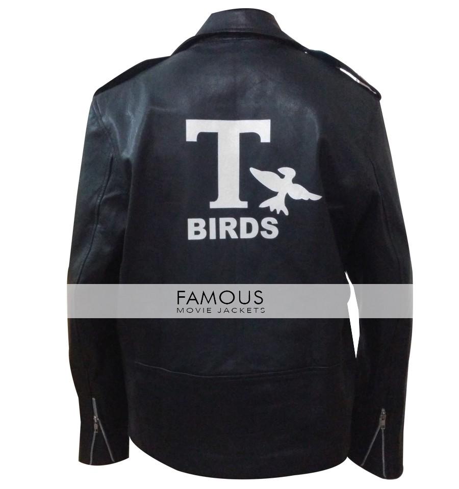 d841de02e John Travolta (Danny Zuko) Grease T-Bird Black Jacket - Designer ...