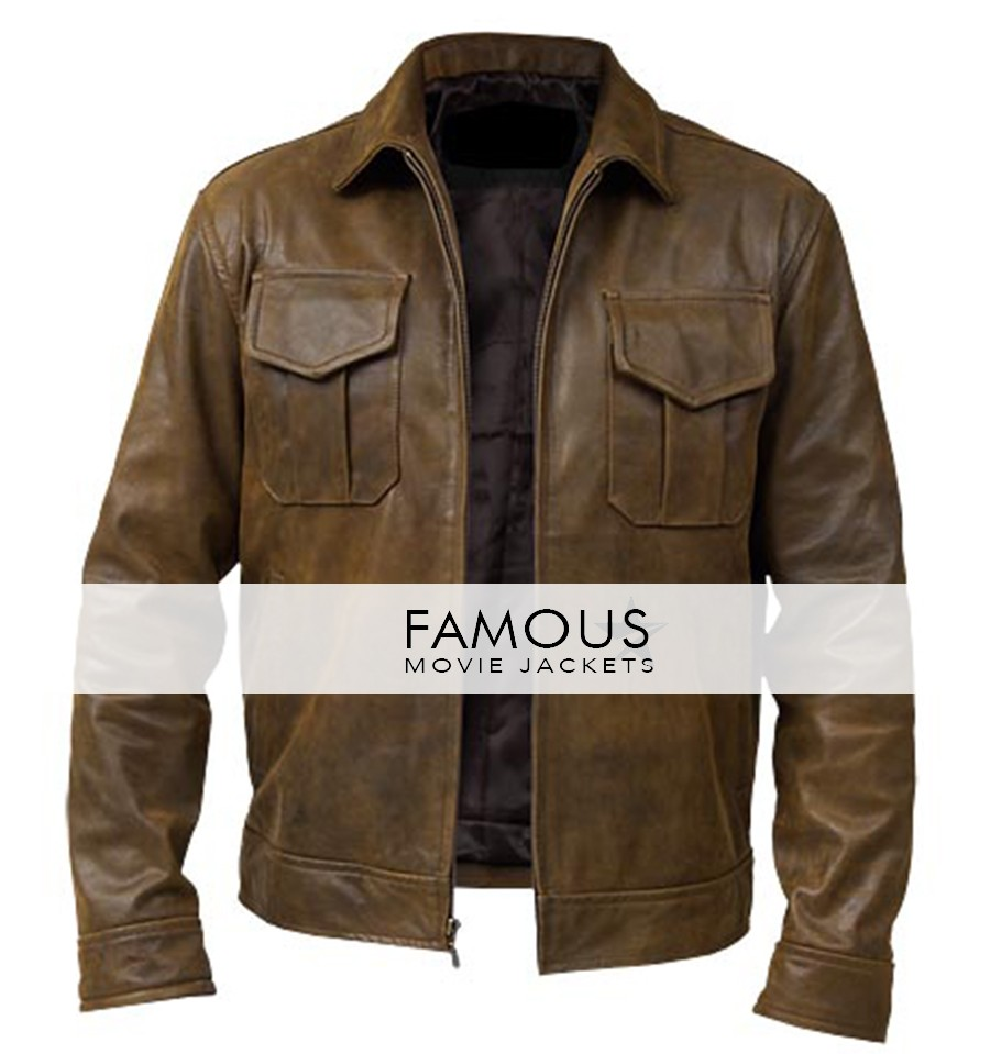3c8fdc76f96 Copper Vintage Classic Distressed Brown Leather Jacket - Designer ...