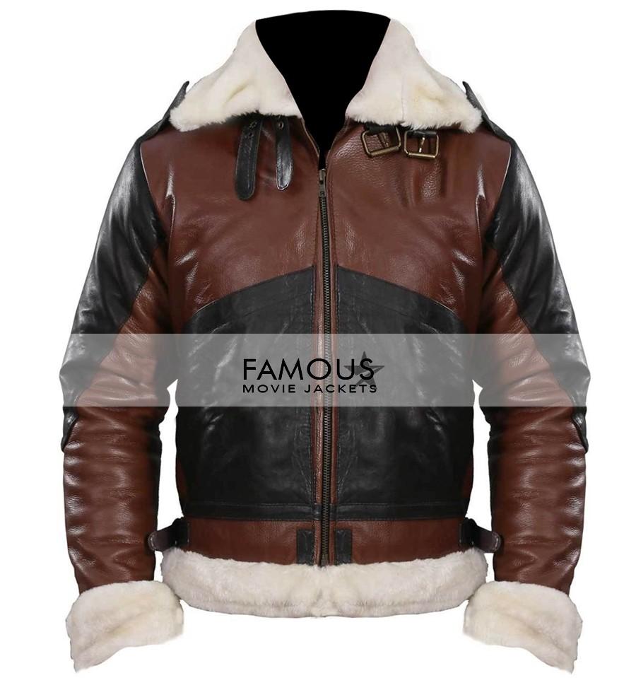 cea4f485 B3 Bomber Men's Dark Brown Leather Jacket - Designer Leather Jackets ...