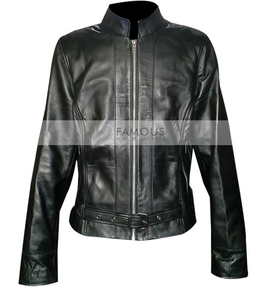 Sons of Anarchy Katey Sagal Black Biker Jacket