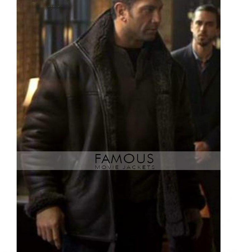 House of the Rising Sun Dave Bautista Black Fur Jacket