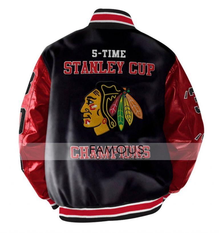 Stanley Champions Blackhawks Chicago Black Bomber Jacket