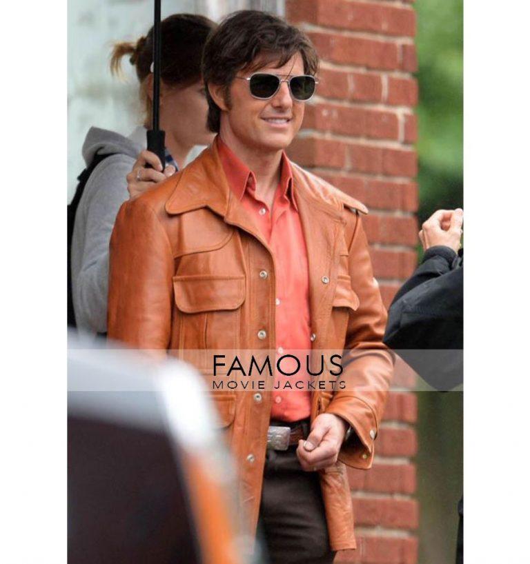 Mena Movie Tom Cruise Brown Leather Jacket