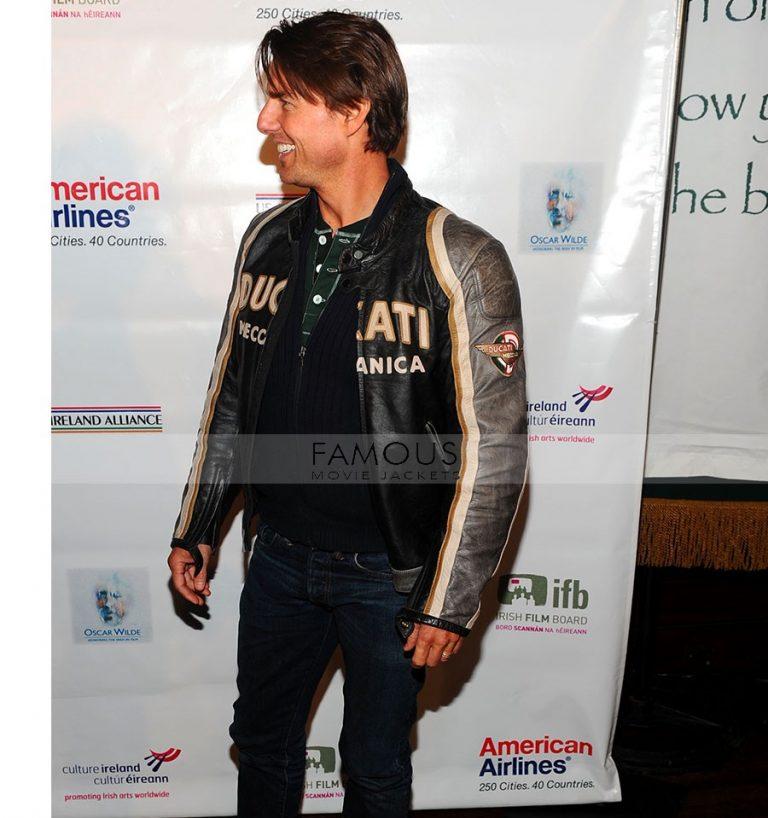 Tom Cruise Ducati Motorcycle Leather Jacket