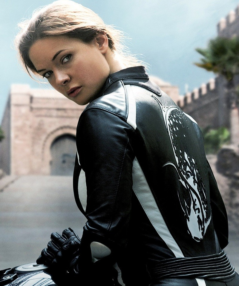 Mission Impossible 5 Rebecca Ferguson Motorcycle Jacket - FMJ