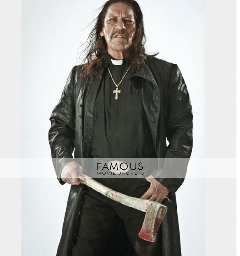 Zombie Hunter Movie Danny Trejo Trench Black Coat