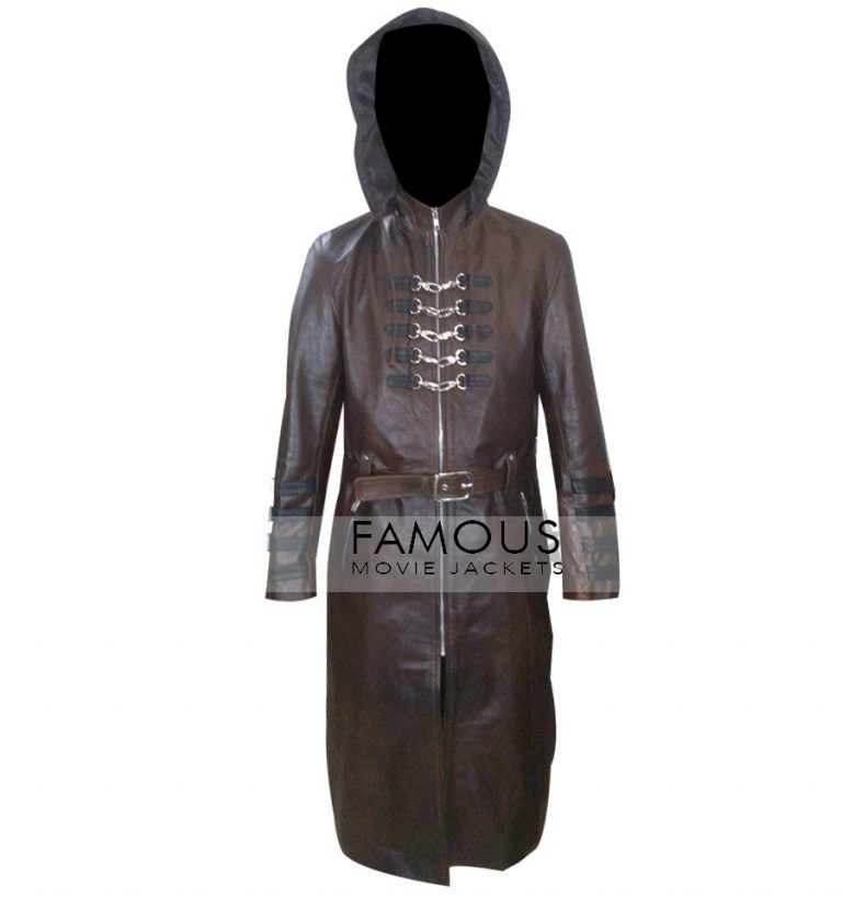 Steampunk Gothic Trench Leather Coat