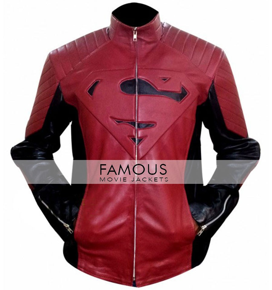 Superman Smallville Red And Black Leather Jacket