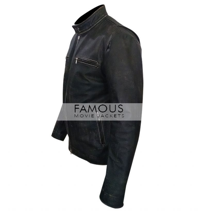Daddy's Home Mark Wahlberg Distressed Leather Jacket