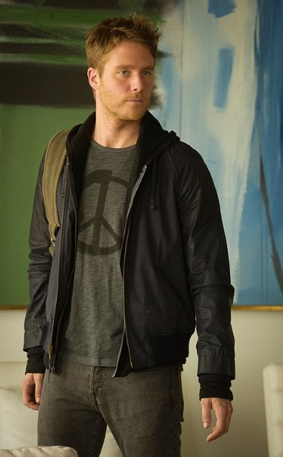 Limitless Tv Series Jake McDorman Navy Blue Bomber Jacket