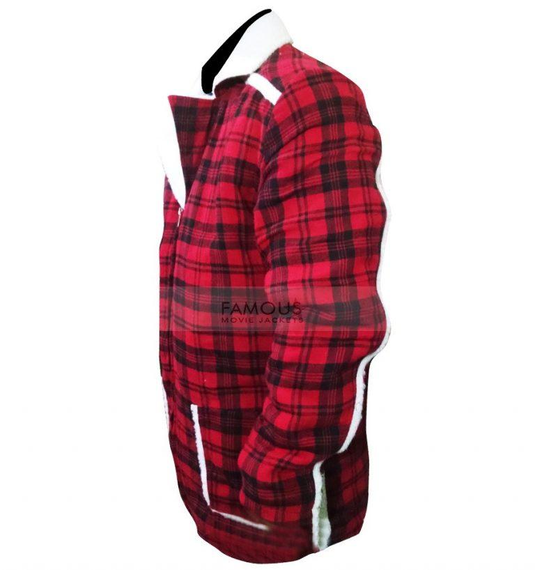 Deadpool Ryan Reynolds Red Shearling Jacket