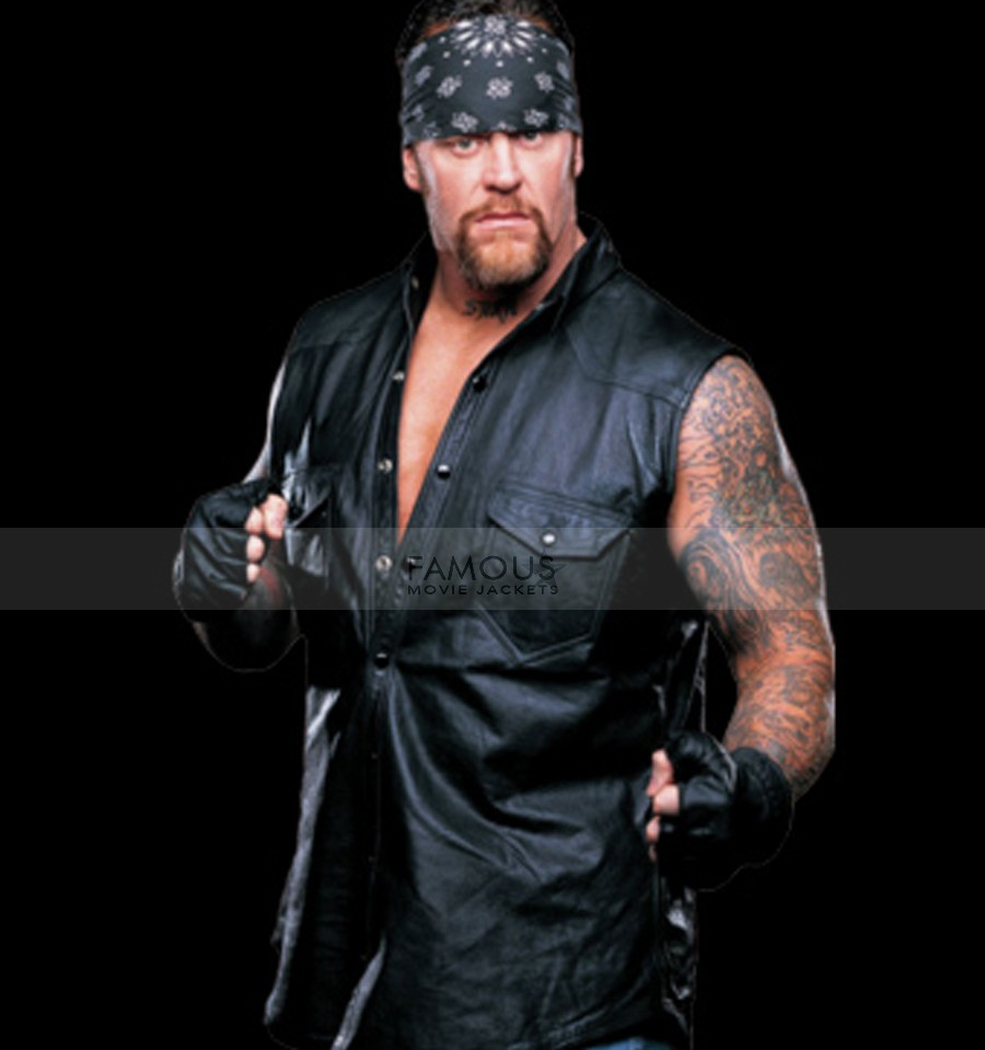 WWE Undertaker Black Leather Vest