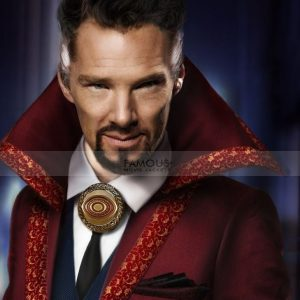 Doctor Strange Benedict Cumberbatch Wool Long Red Coat