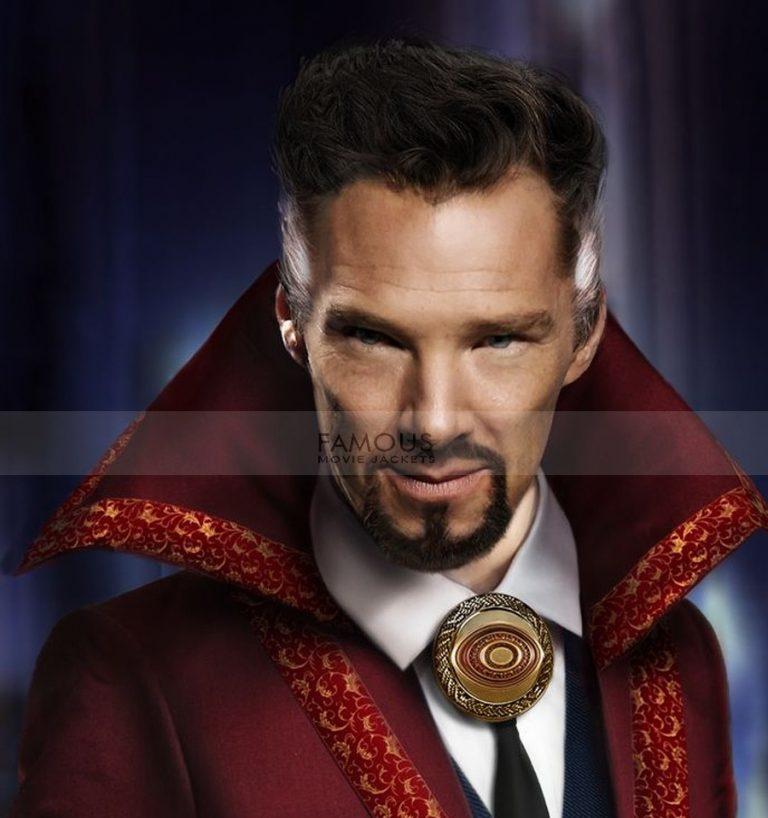 Doctor Strange Benedict Cumberbatch Wool Long Red Coat
