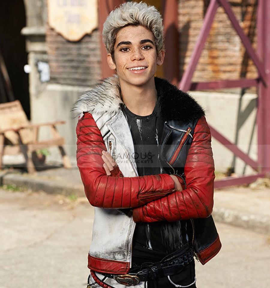Carlos Descendants Cameron Boyce Leather Jacket Fmj