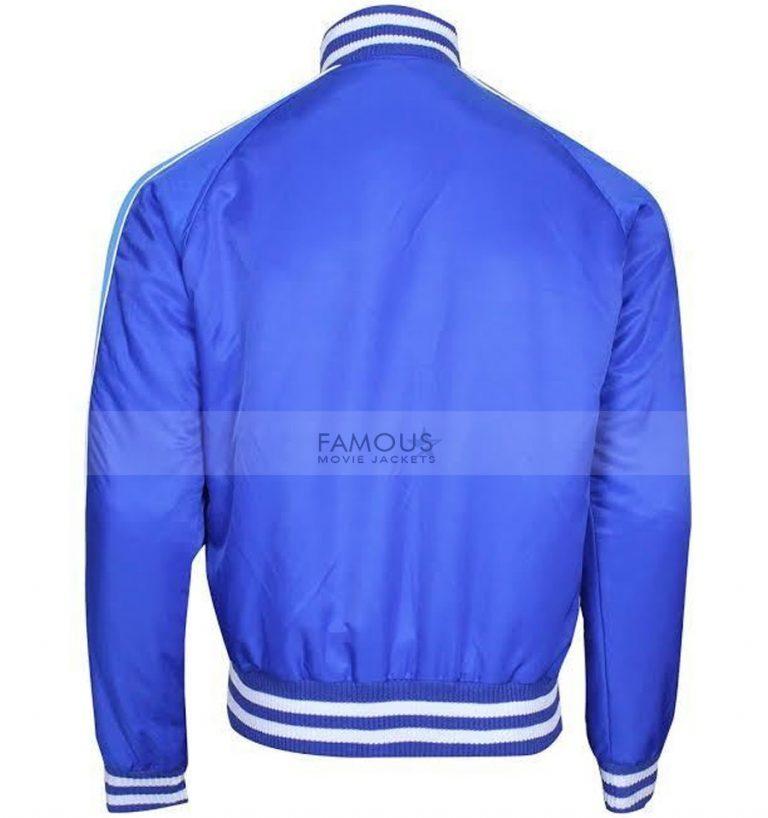 Suicide Squad Captain Boomerang Blue Satin Bomber Jacket