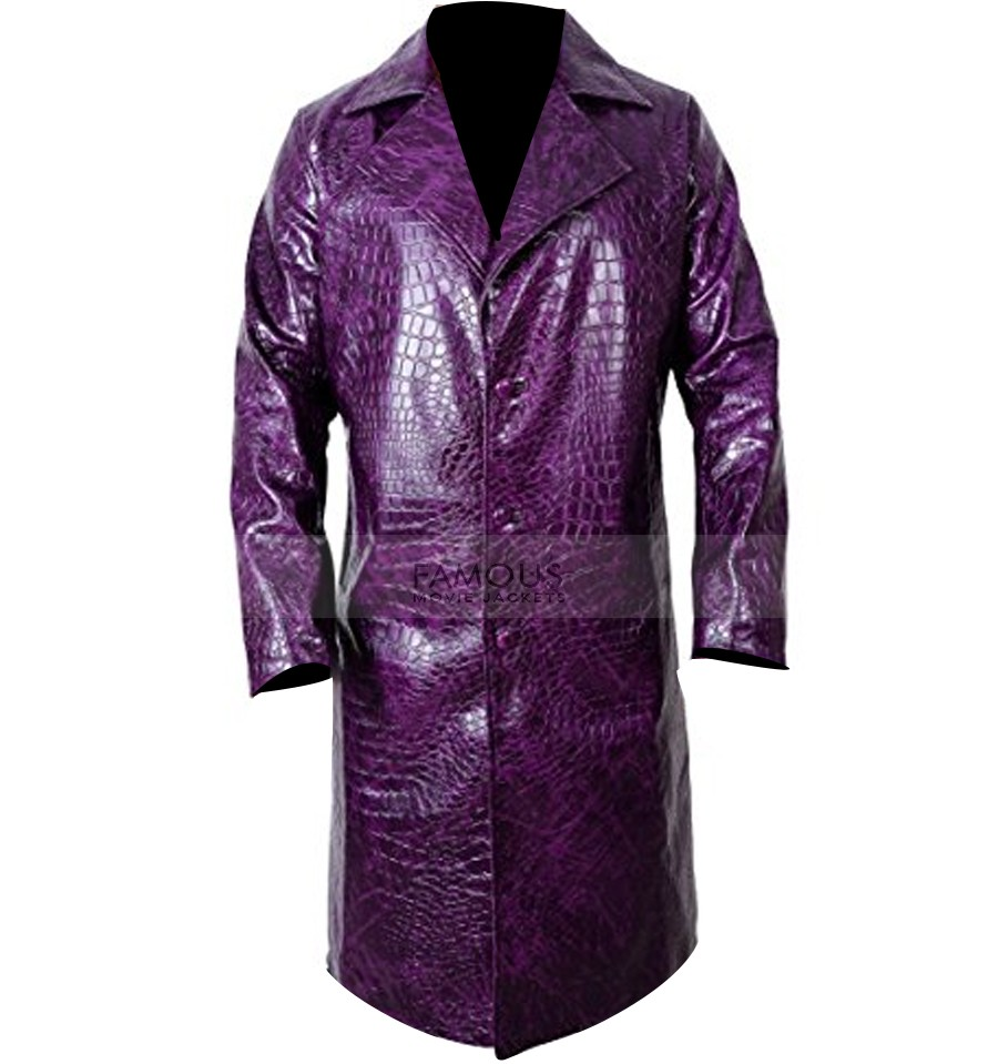 Jared Leto Suicide Squad Joker Crocodile Purple Coat