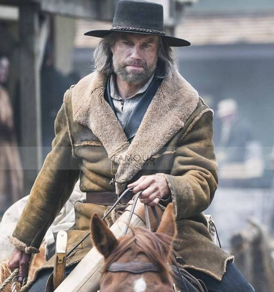 Hell On Wheels Cullen Bohannon Shearling Coat