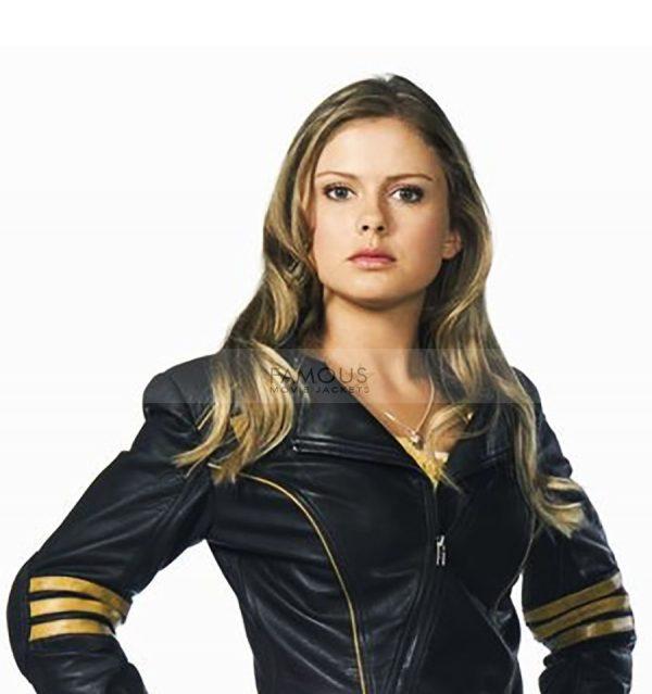 Power Rangers Rose Mciver Leather Jacket