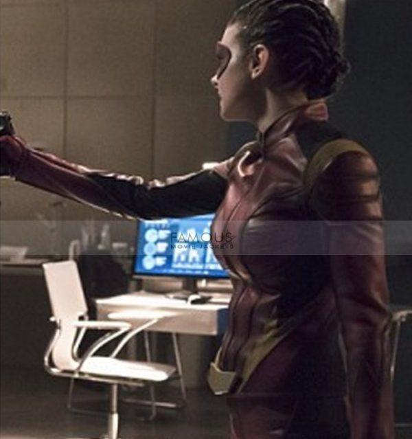 The Flash Trajectory Eliza Harmon Red Costume Jacket