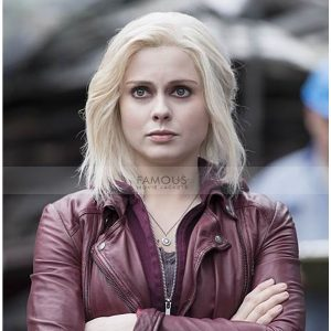 Izombie Rose Mciver Liv Moore Maroon Leather Jacket