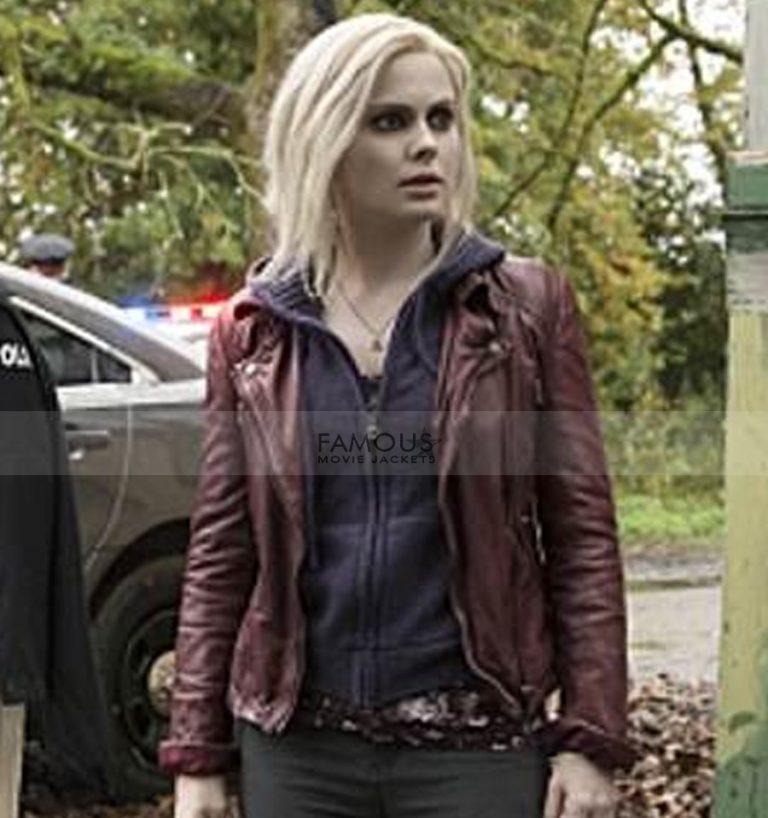 Izombie Rose Mciver Liv Moore Maroon Leather Jacket