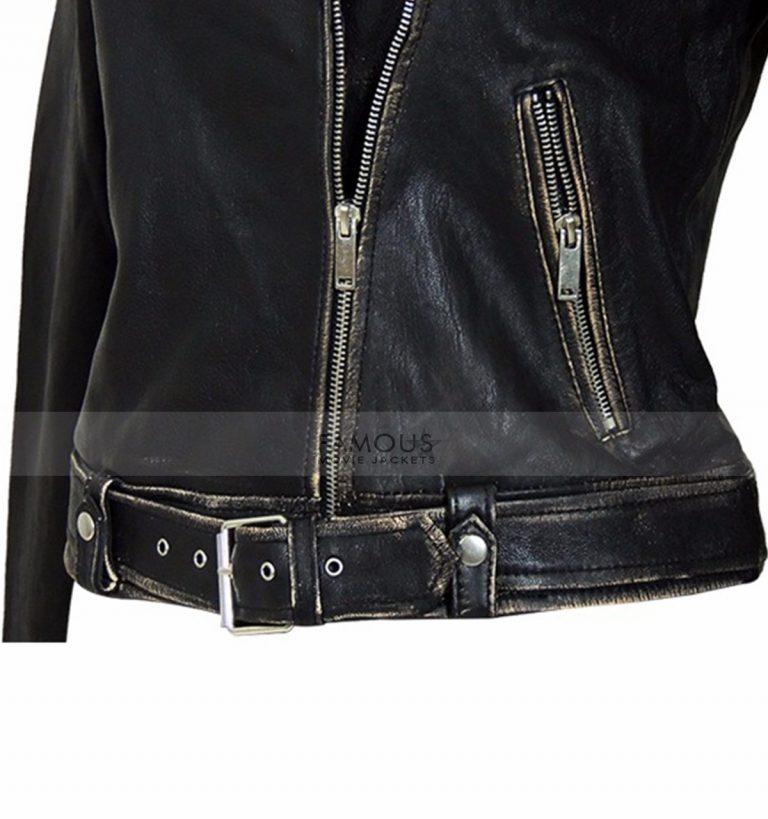 distressed slim fit jacket
