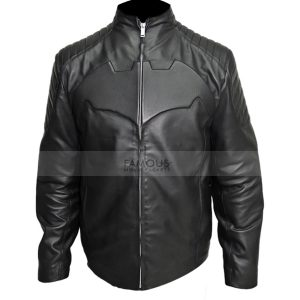 Batman Begin Black Motorcycle Leather Jacket