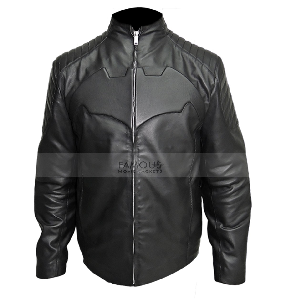 Batman Begin Black Motorcycle Leather Jacket