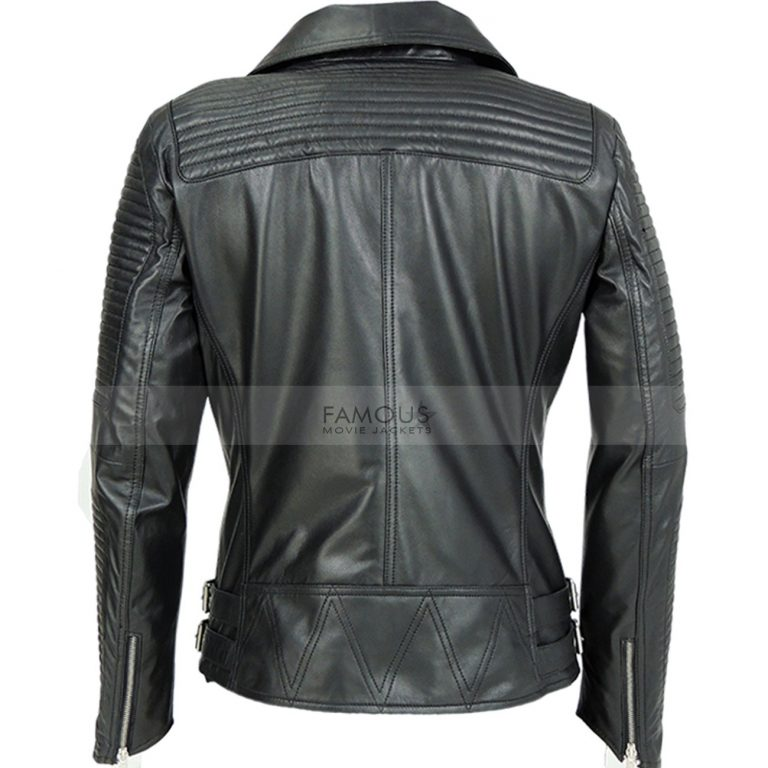Quilted Black biker jacket